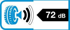 Etykieta informująca poziomie generowanego hałasu przez oponę.
